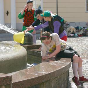 graduates around the fountain, tartu, may2008               album
